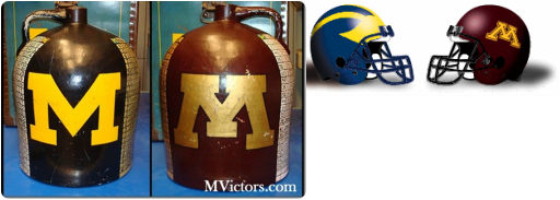 college football rivalry trophies  l-p
